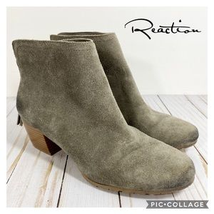 Kenneth Cole Reaction grey suede tassel booties